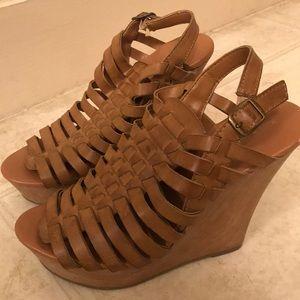 High wedge heel.